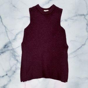 Aritzia Wilfred Purple Palmier Sleeveless Sweater